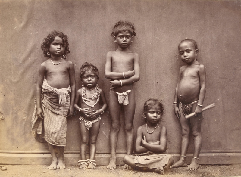 เด็กๆ ชาวทมิฬ ถ่ายเมื่อปี 1886