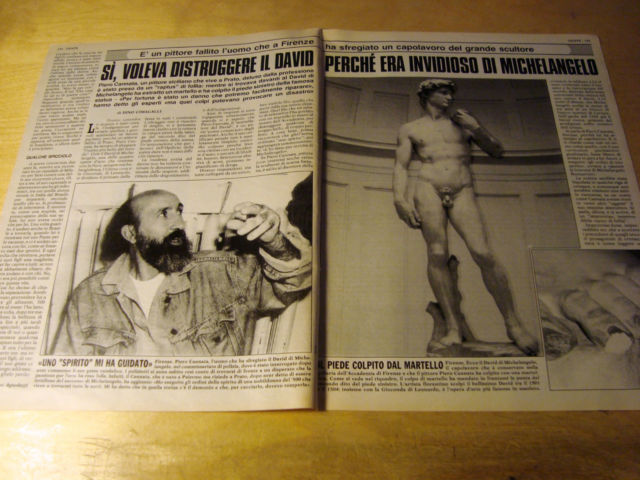 เดวิด รูปปั้น ทำร้าย เสียหาย Piero Cantana