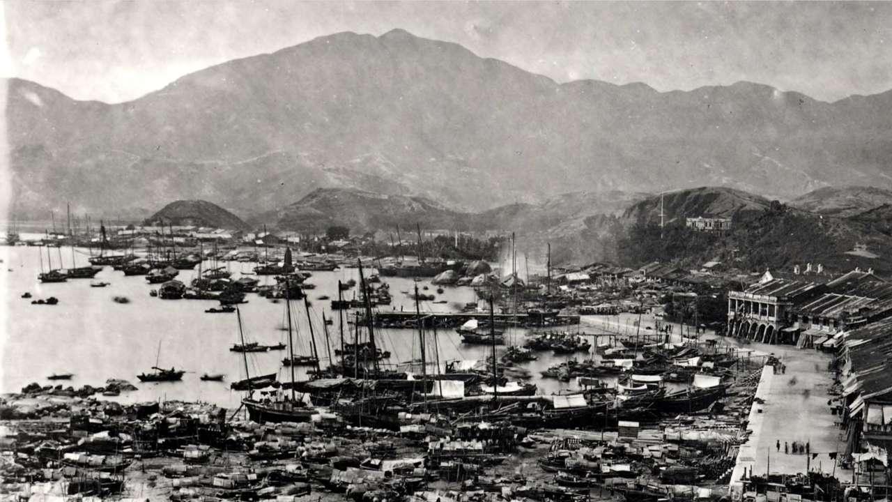 ฮ่องกง ริมน้ำ เกาลูน ปี 1900