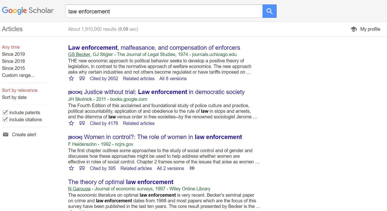 google scholar product service