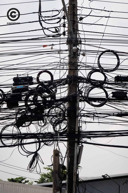 #สายไฟ #เสาไฟฟ้า #สายไฟฟ้า #สายไฟฟ้าลงดิน