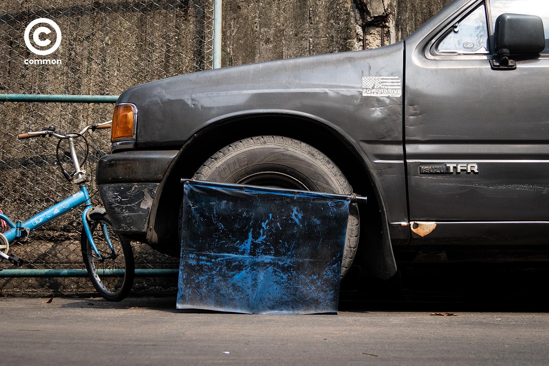 #photoessay #วัสดุเหลือใช้ #ที่กันสุนัขฉี่ #ล้อรถยนต์ #CULTURE #common